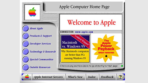 Tampilan Website Apple Jaman Dulu