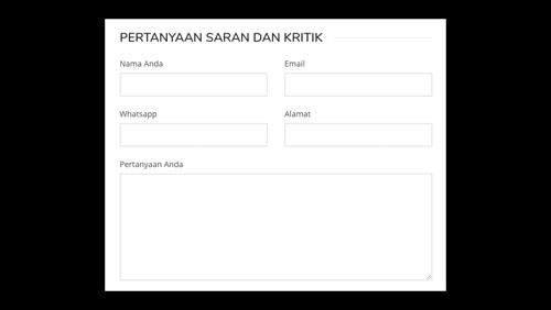 Formulir Saran Pengunjung Website Sekolah
