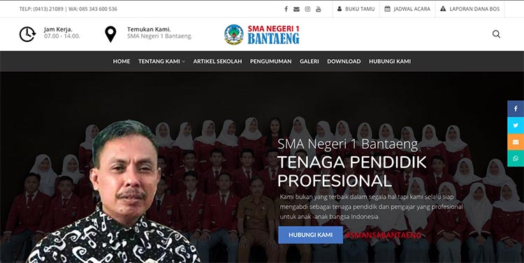 Web Sekolah SMA Negeri 1 Bantaeng